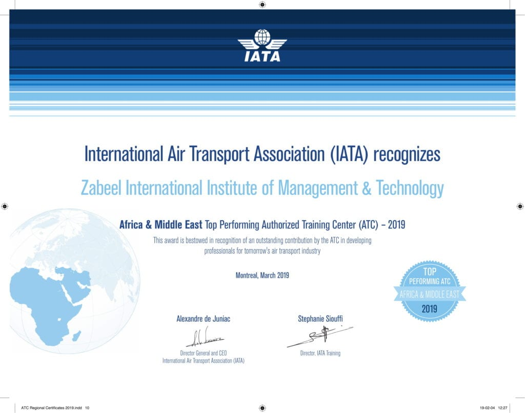 top performing iata authorized training center in UAE