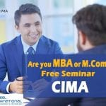 Free Seminar on Easy International professional qualification route for MBA / M.COM…!